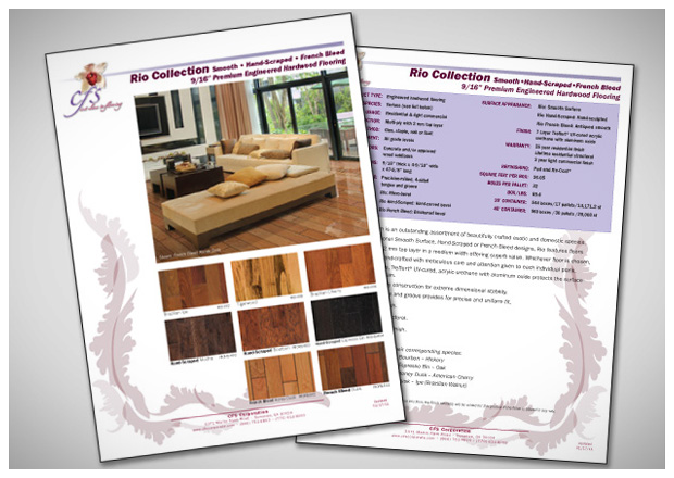 CFS Flooring Product Guide design