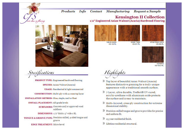 CFS Flooring - Product Page