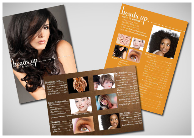 Heads Up Beauty - Marketing Materials