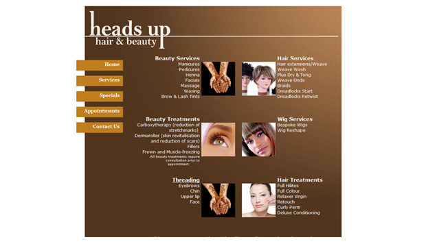 Heads Up Beauty - Services